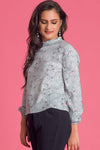 Floral Long Sleeve Work Wear Top