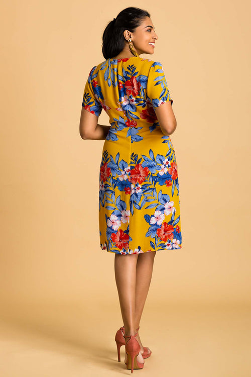 Pocket Detailed Floral  Dress