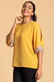 Embelished Sleeve Top