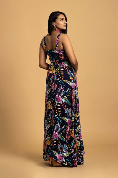 Front Bow Tie Maxi Dress