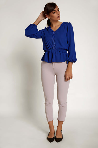 Lace Laid Work Wear Top