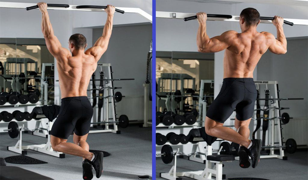 Wide grip pull up