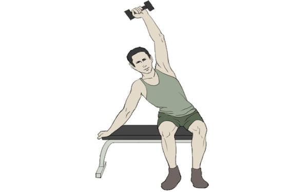 unilateral overhead triceps
