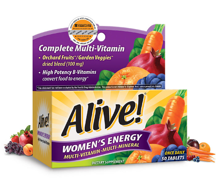 Vitamin Alive WoMen's Energy 50 viên
