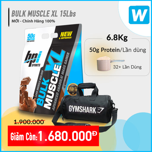 Bulk Muscle Gainer XL 15Lbs (6.8kg)
