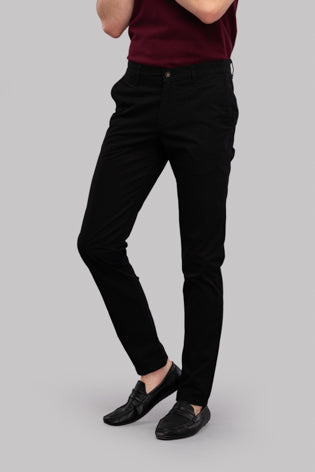 Twill Trousers (Black)