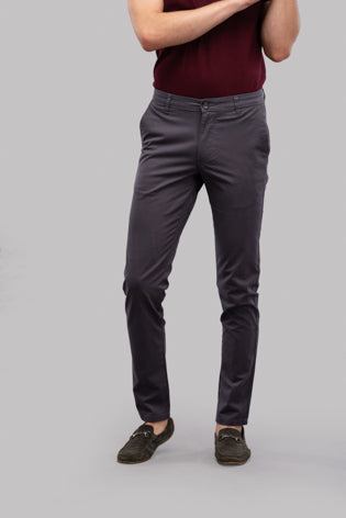 Twill Trousers (Grey)