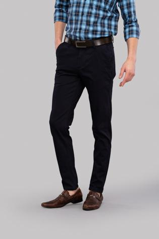 Plain Twill Trousers (Navy)
