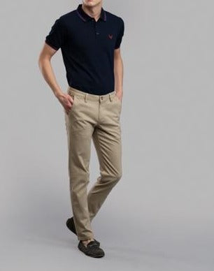 Plain Twill Trousers (Khaki)