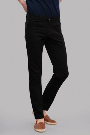 Atras Satin Trousers (Black)