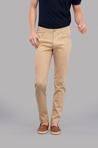 Atras Satin Trousers (Beige)