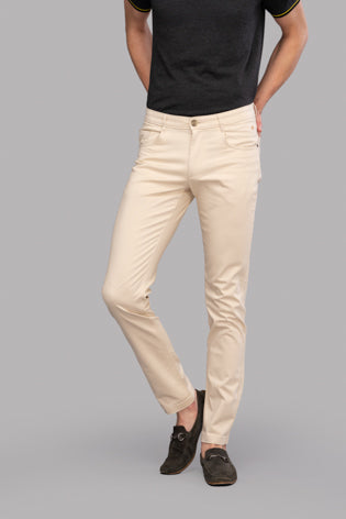 Atras Satin Trousers (Cream)
