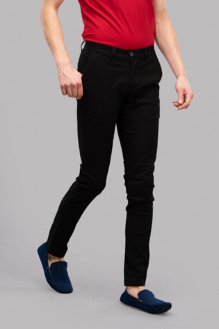 Rapier Slub Trousers (Black)