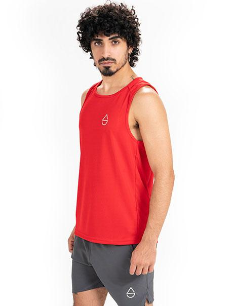 Red Influx Muscle Tank