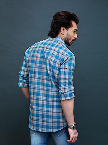 French Blue Tartan