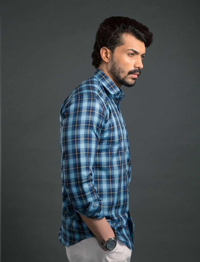 Greek Blue Tartan