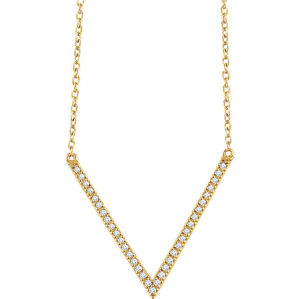 Diamond V Necklace - ROCKED by Rob G