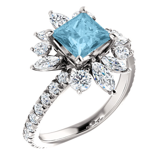 Aquamarine and Diamond Ring - ROCKED by Rob G.