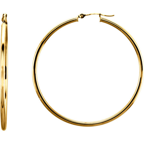 14k Gold 2mm Hoops - ROCKED by Rob G