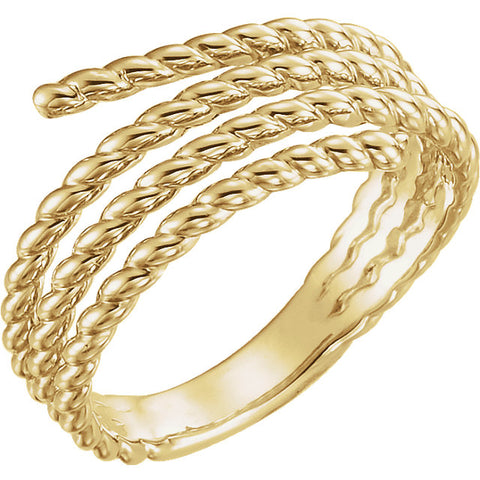 Gold Rope Ring - ROCKED by Rob G
