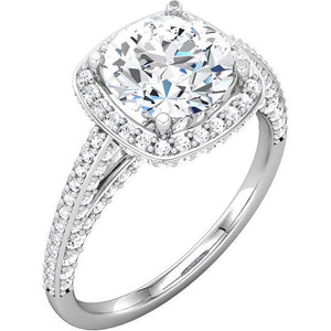 14k Semi Mount Engagement Ring - ROCKED by Rob G