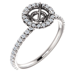 14K Semi Mount Engagement Ring