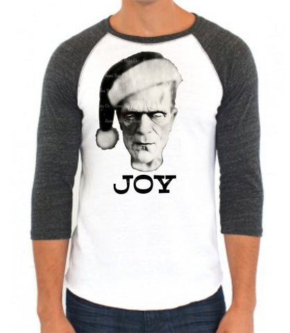 Christmas Monster Joy Baseball Raglan
