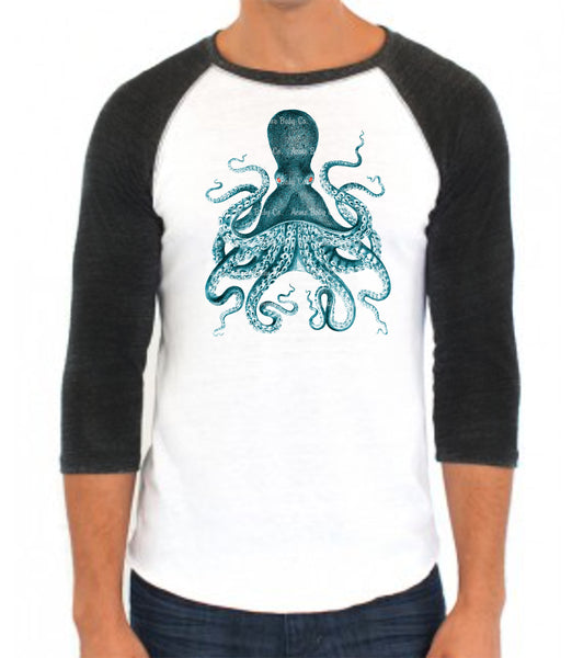 Release the Kraken Octopus Baseball Raglan