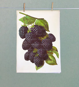 Blackberry Retro Tea Towel