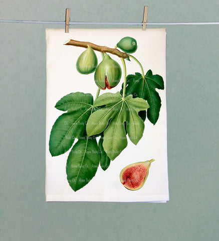 Fresh Figs Retro Tea Towel