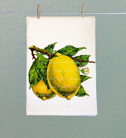 Fresh Lemons Retro Tea Towel