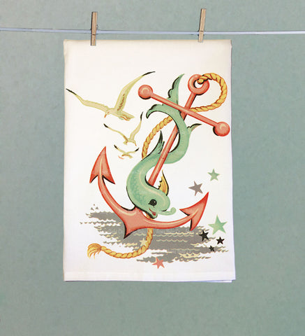Pastel Maritime Tea Towel