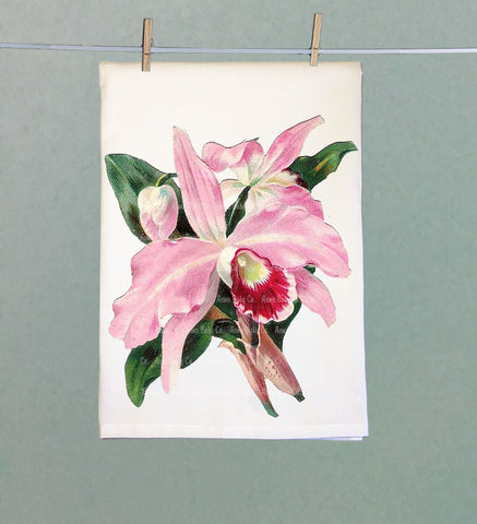 Vintage Orchid Tea Towel