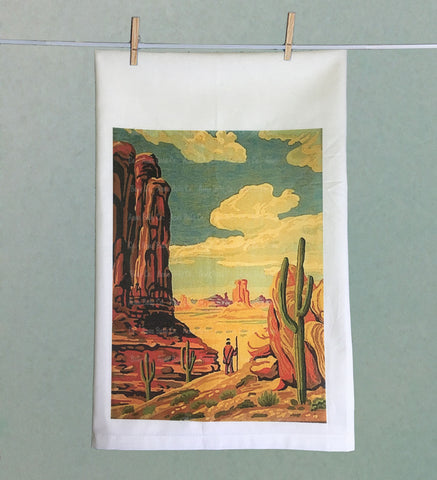 Southwest Paint by Numbers Tea Towel