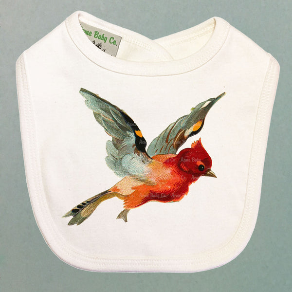 Beautiful Cardinal Organic Baby Bib