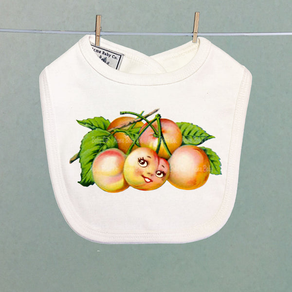 Happy Rainier Cherries Organic Baby Bib