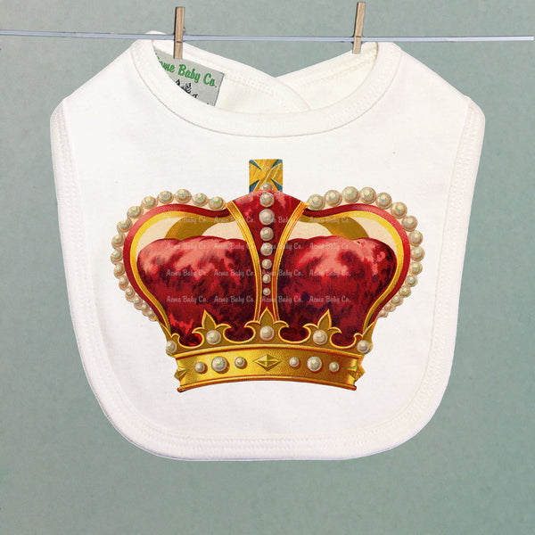 Royal Crown Organic Baby Bib