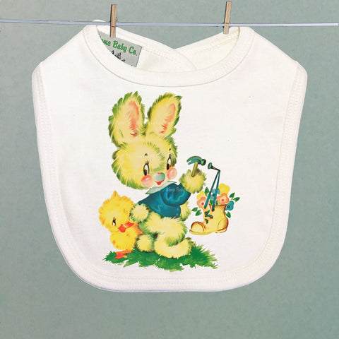 Bunny with Boot Organic Baby Bib