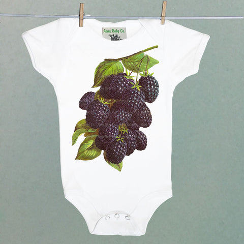 Blackberry One Piece Baby Bodysuit