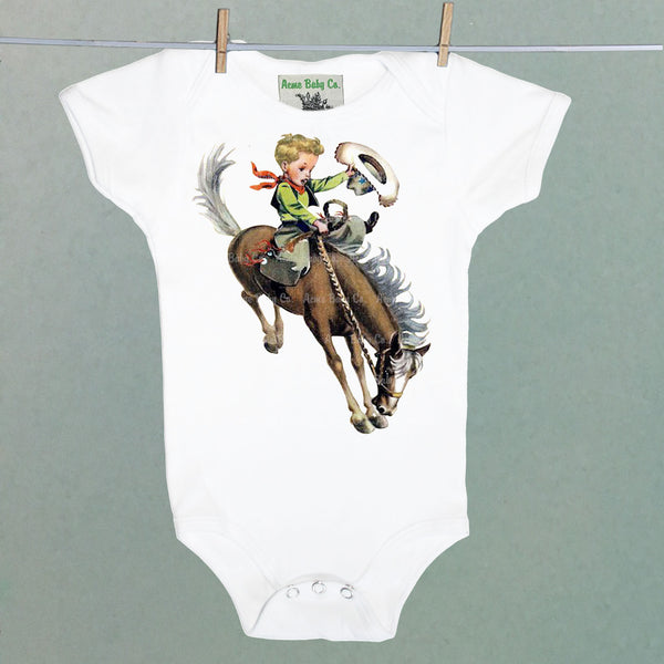 Blonde Buckaroo Onesie One Piece Baby Bodysuit