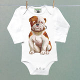 Bulldog One Piece Baby Bodysuit