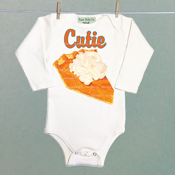 Cutie Pie Pumpkin One Piece Baby Bodysuit