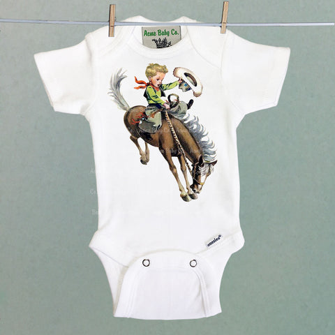 Blonde Buckaroo Onesie™ One Piece Baby Bodysuit