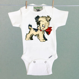 One Piece Baby Bodysuit with Cutie Pup