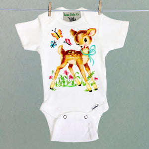 Deer and Friends One Piece Baby Bodysuit
