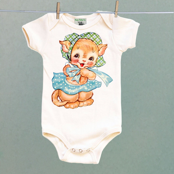 Bonnet Kitten One Piece Baby Bodysuit
