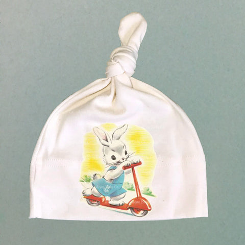 Scooter Bunny Organic Cotton Baby Knit Cap