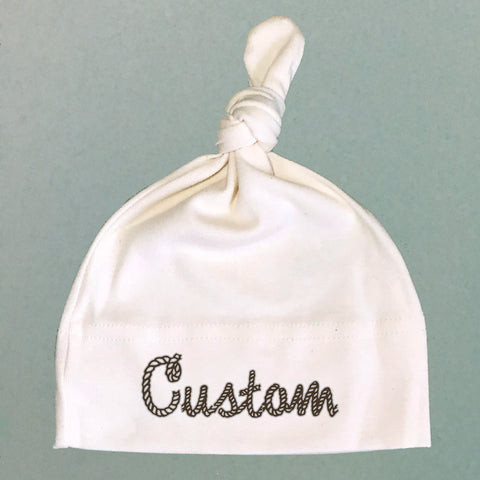 Personalized Name Rope Organic Cotton Knit Cap