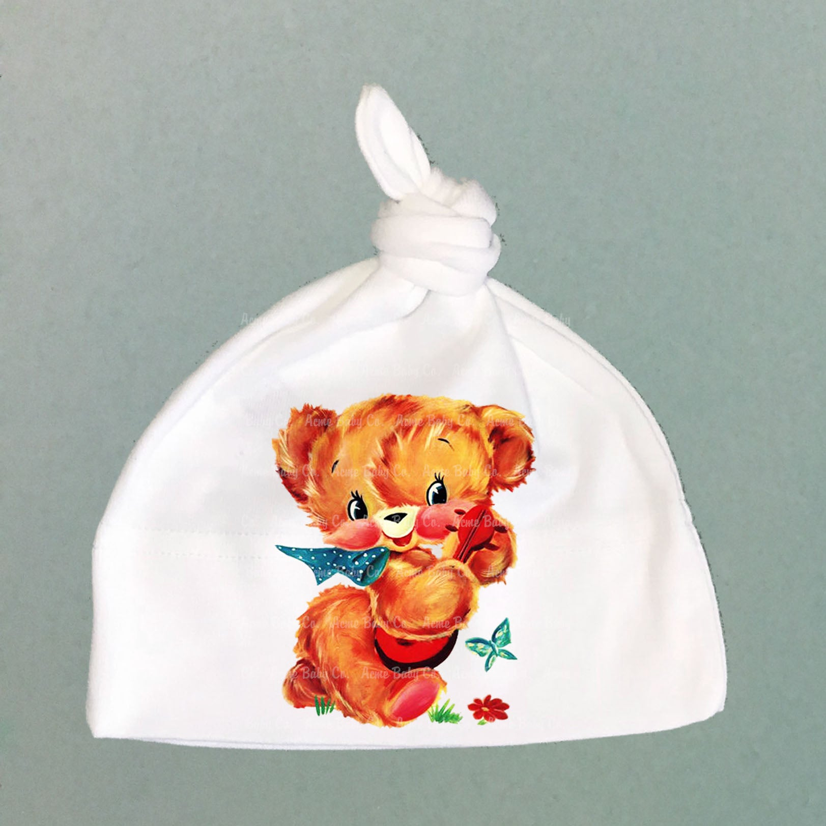 Banjo Bear Organic Cotton Baby Knit Cap