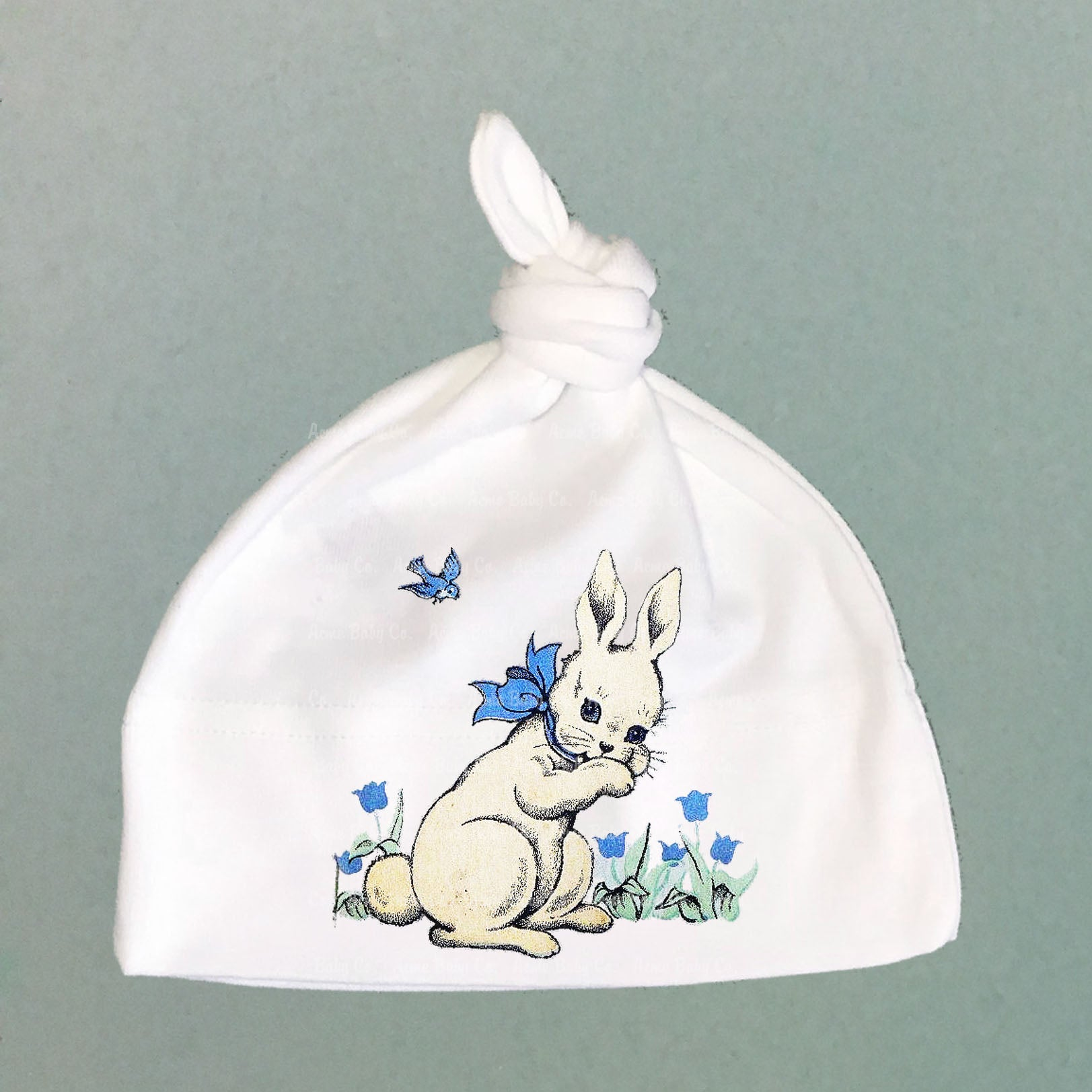 Bluebell Bunny Organic Cotton Baby Knit Cap